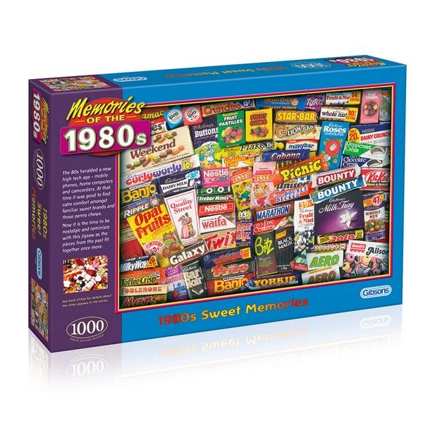 1980s Sweet Memories 1000 Piece Puzzle Gibsons Jigsaws